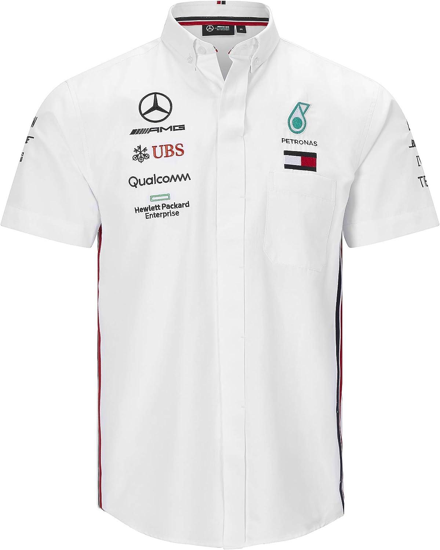 Mercedes-AMG Petronas Motorsport Mercancía Oficial de Fórmula 1 Camisa de Manga Corta - Blanco: Amazon.es: Ropa y accesorios