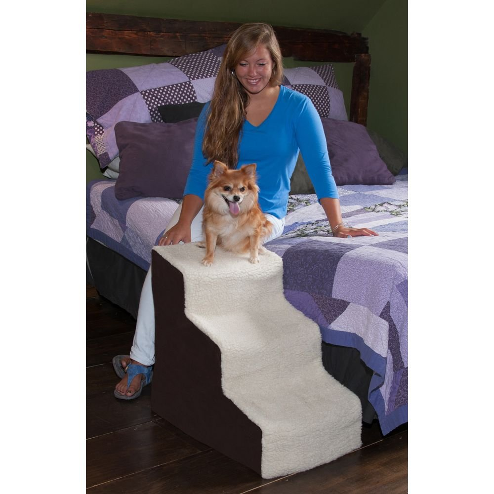 Delightful Amazon.com : Pet Gear Easy Step III Deluxe Soft 3 Step Pet Stairs For Pets  Up To 150 Pound, Oatmeal/Chocolate : Pet Supplies