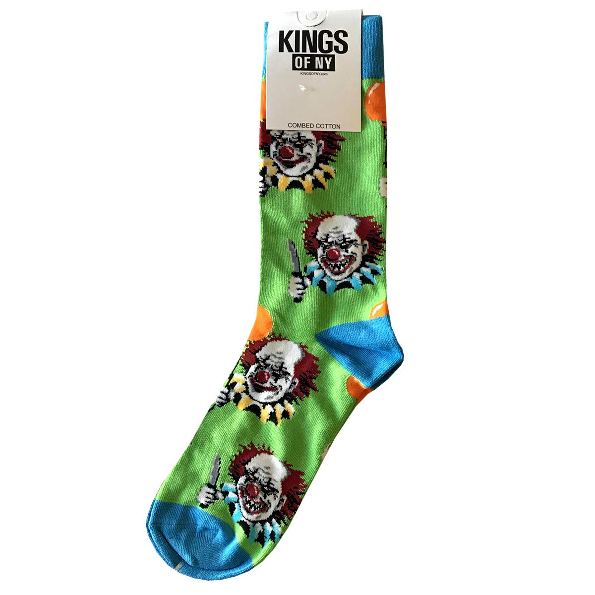 Crazy Killer Clown Funny Horror Novelty Mens Cotton Socks
