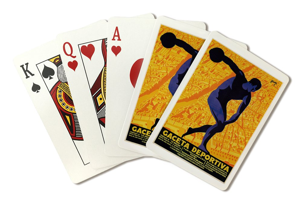 Amazon.com: Discus Promotion Vintage Poster - Gaceta Deportiva (Playing Card Deck - 52 Card Poker Size with Jokers): Arts, Crafts & Sewing