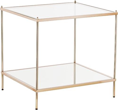SEI Furniture Knox Glam Mirrored 2-Tier