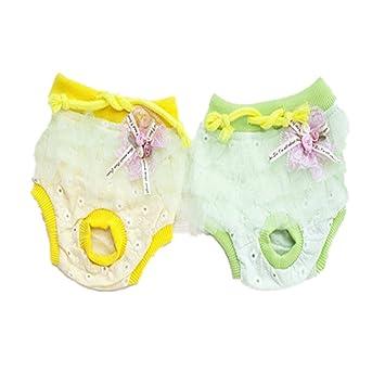 Fully 2X abrigos para perros lavables femeninos Períodos de temporada para perros menstruales sanitarios pañal para