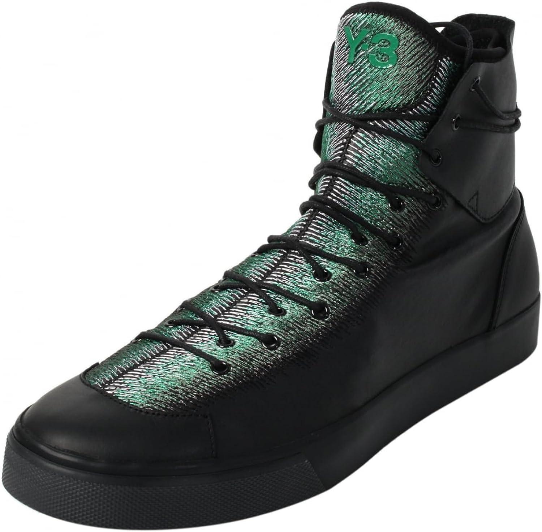 junio suizo Sombra  Amazon.com | adidas Y-3 Men Sen High (Black/Supcol/Evergreen) | Fashion  Sneakers