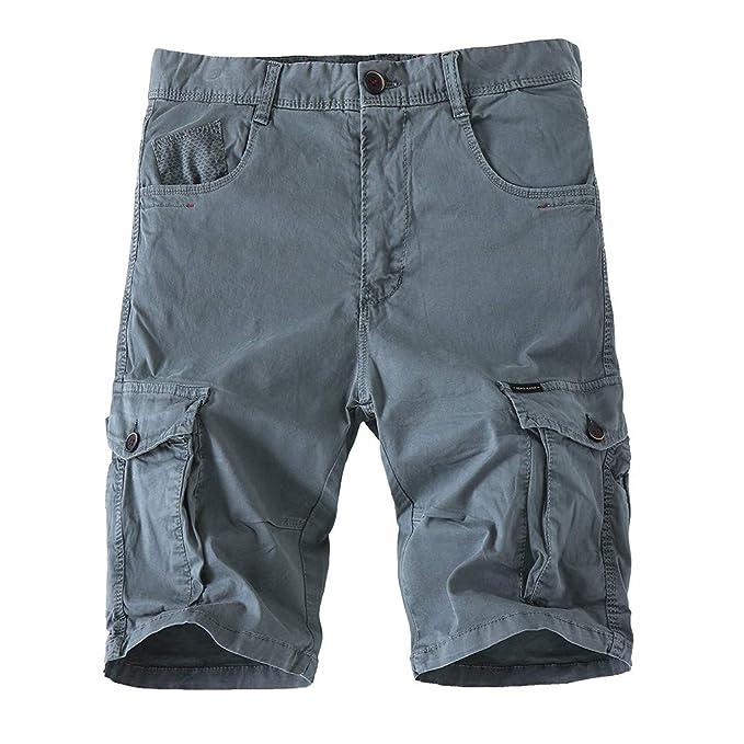 BOBOLover Bermudas de para Hombre Pantalones Cortos de Carga ...
