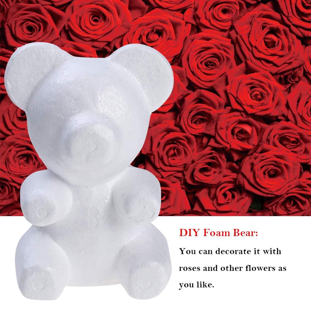 Oso De Espuma de Poliestireno Espuma De Poliestireno Modelado Para Bricolaje Artesanía Decoración de fiesta de San Valentín