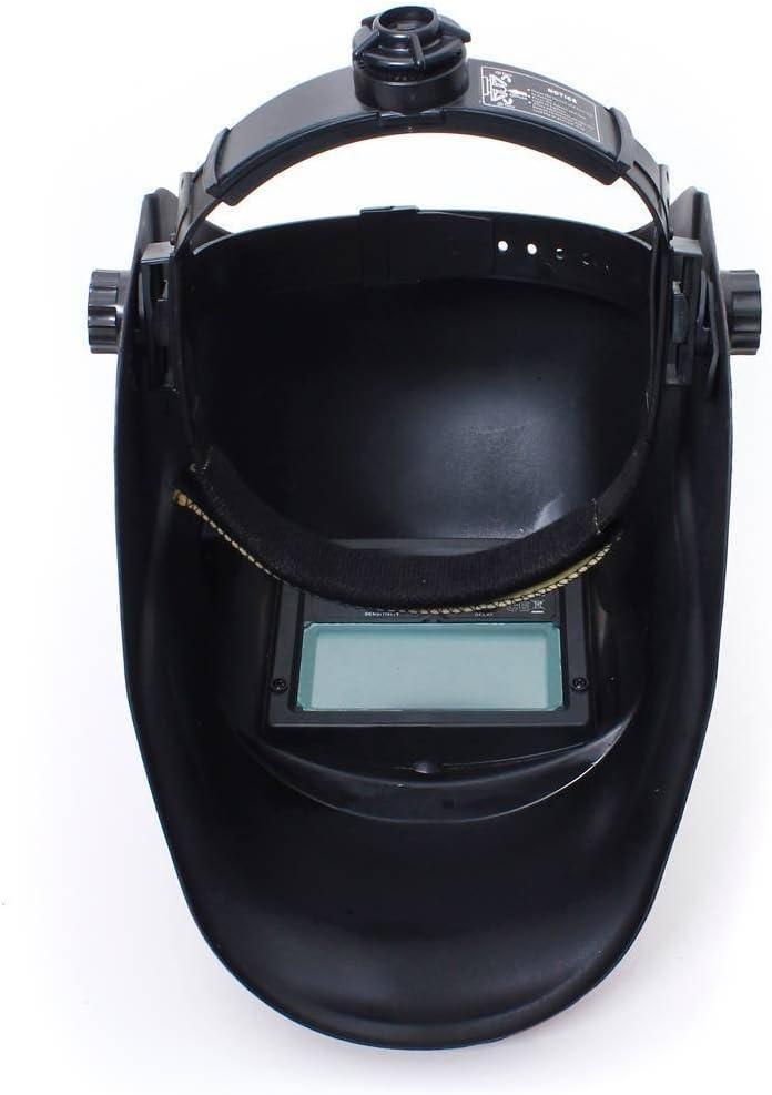 Noir carbone Casque de soudure TOOLSTAR casque de soudure automatique /à /énergie solaire et batterie avec accessoires de protection du visage MIG TIG ARC