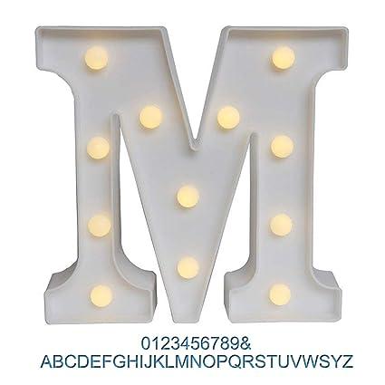 Amazon.com: Ogrmar - Cartel con luz blanca para decoración ...