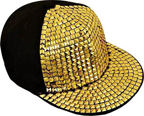 032c605de21 SAIFPRO Self Design Snapback Acrylic Gold Hiphop Cap  Amazon.in  Clothing    Accessories