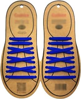 Black Temptation Lacets Silicon Flat élastiques étanches pour Laces Athletic Shoe Casual Course#Blau