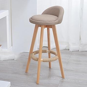 Amazon Com Bar Counter Solid Wood Chair Creative 360 Swivel Chair