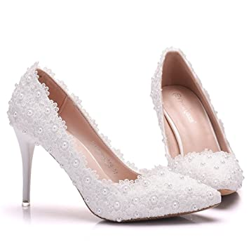 sports shoes bedd9 a0756 Damen Brautschuhe /Weiße Hochzeitsschuhe/Bequeme Strass High ...