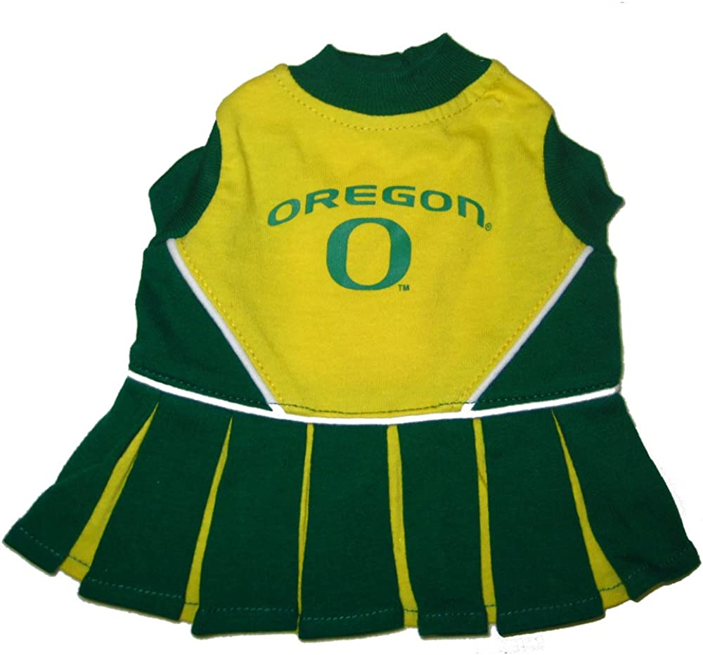 Pets First Oregon Ducks Cheerleading Outfit