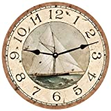Cheap Sailboat Clock (14.5″)