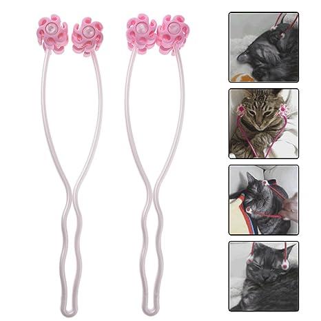 2 rodillos masajeadores para mascotas para masajeador de cabeza de perro o gato, terapia de