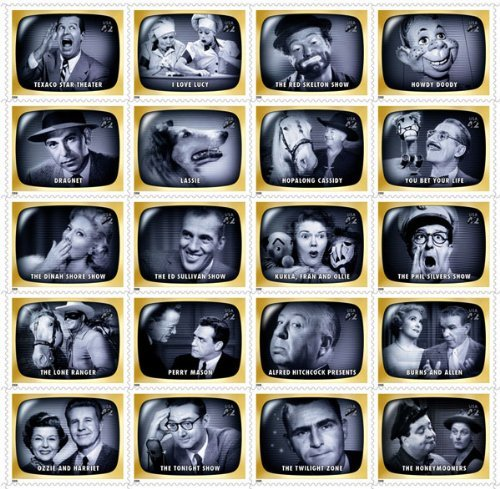 - TV Early Memories (Television Shows) Full Sheet of 20 x 44-Cent Stamps, USA 2009, Scott 4414