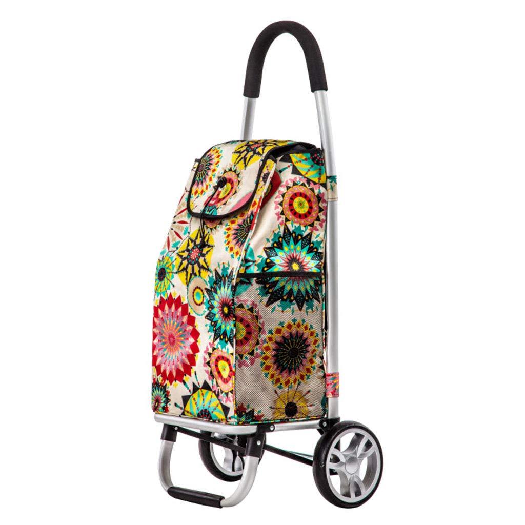 ショッピングキャリー ショッピングカート手荷物カート階段を上って食べ物カートを購入する折り畳み式トロリー荷物トレーラー100kg (Color : Color, Size : 46.5 * 36 * 100cm) 46.5*36*100cm Color B07HR6CST8