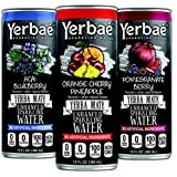 Yerbaé Enhanced Sparkling Water Yerba Mate Drink (Variety 12-pack) Keto & Whole30 Diet, with Guarana