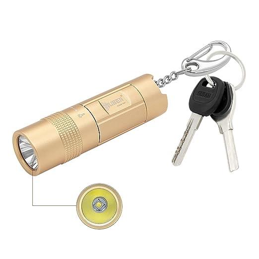 Wuben E347 Linterna Llavero Recargable USB Batería Resistente al Agua Ultra Brillante Flashlight 300 Lúmenes con 2 modos para Ciclismo, Camping, ...
