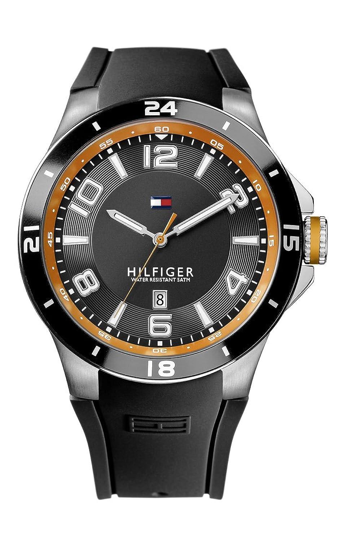 Tommy Hilfiger Reloj analógico de cuarzo para hombre con correa de silicona