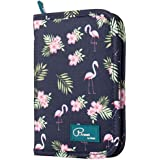 Women Passport Holder Travel Wallet with Flamingo PrintsLight Travel Storage Bag