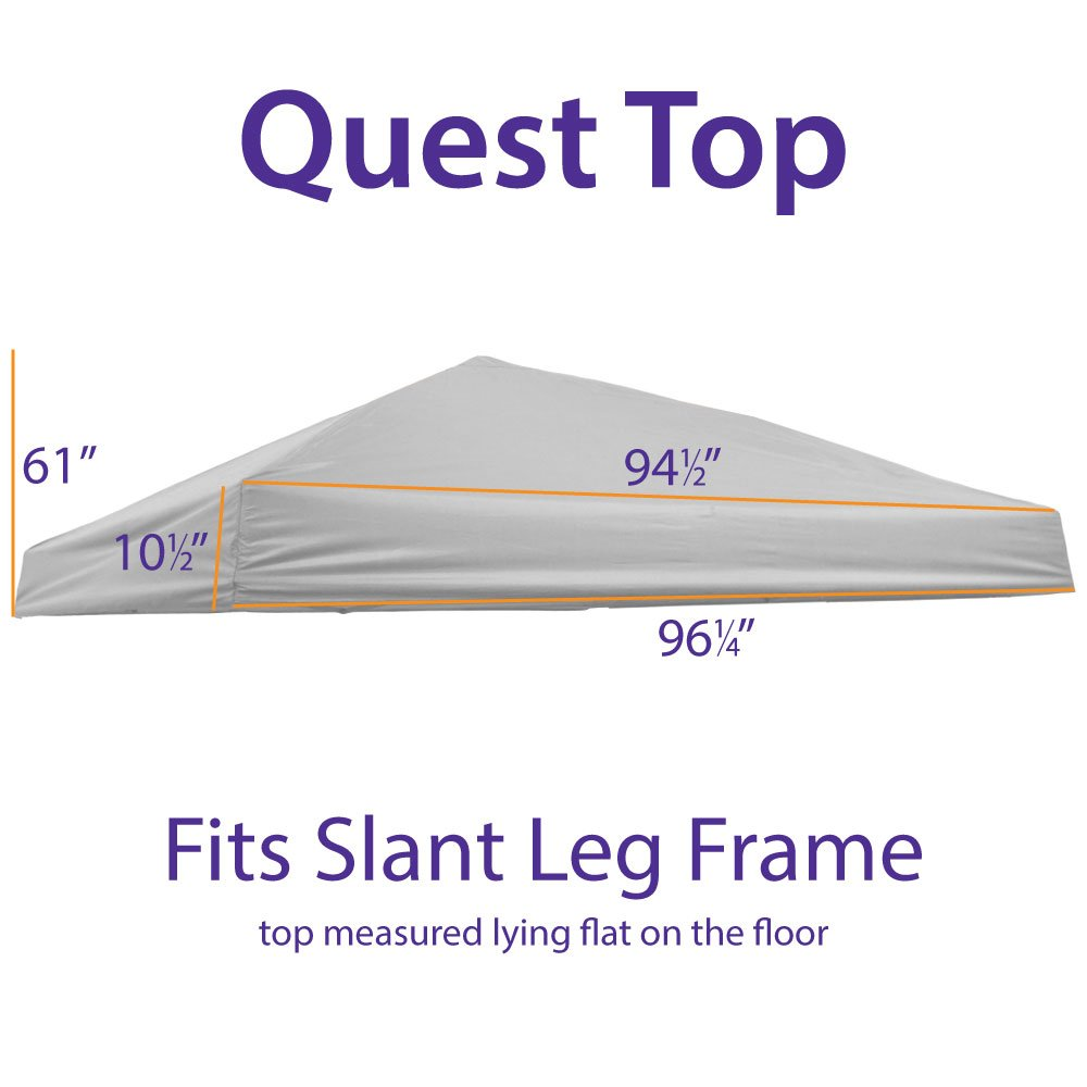 Impact Canopy Replacement Top Cover (Light Grey)