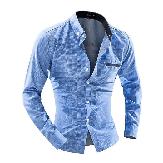 Camisas de hombre, manadlian 2017 nueva moda hombres ...