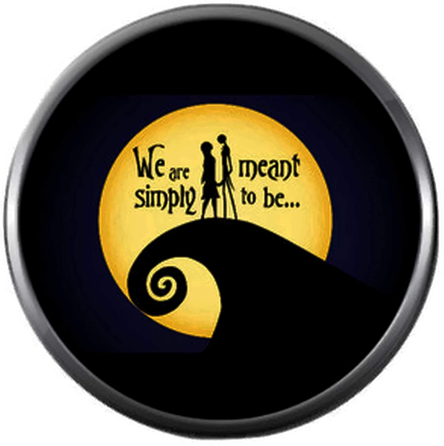We are Simply Meant to Be Nightmare Before Christmas ジャックスケリントン & サリーステッチ 18mm - 20mm スナップジュエリー用チャーム   B07L42H5GC