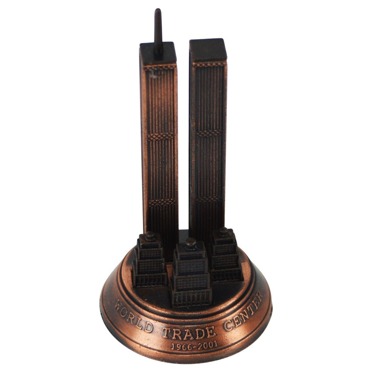 Bronze Metal World Trade Center 9/11 WTC Model Replica Die Cast Pencil Sharpener TreasureGurus LLC