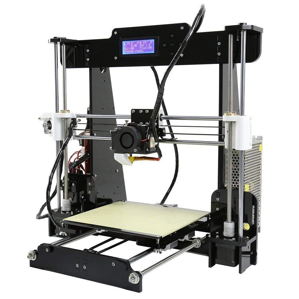 Kit imprimante 3D A8 Kit DIY 3D Printer kit d'auto-assemblage Écran LCD ABS PLA Filament acrylique Stampante Upgradest DIY Haute précision 3D Machine à imprimer Binghotfire