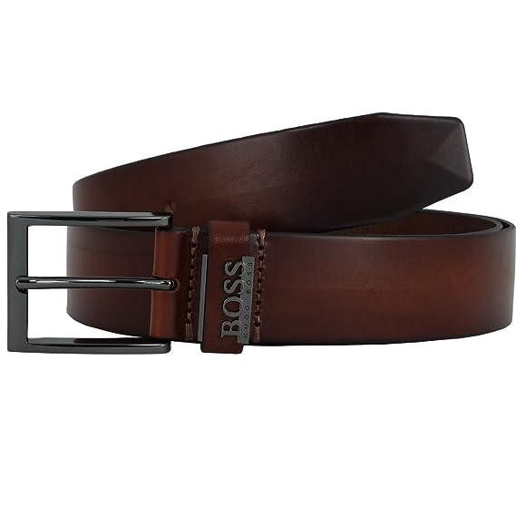 948d77162 Amazon.com: HUGO BOSS Men's Belt, Senol, Real Leather with Metal Buckle,  Metal Logo: Clothing