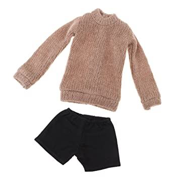 971ae232bf26 MagiDeal 2pcs Cute Sweater with Short Pants Set Fits for 1 3 BJD ...
