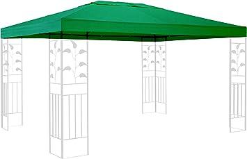 QUICK STAR Techo de Repuesto para cenador de 3 x 4 m Gazebo Verde