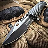 """9"""" TAC FORCE Spring Assisted Open SAWBACK BOWIE Tactical Rescue Pocket Knife EDC"""