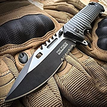 Amazon.com: TAC FORCE SAWBACK BOWIE cuchillo de bolsillo ...