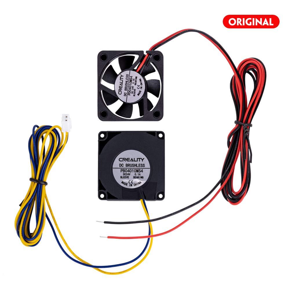 Original Creality Official 4010 Cooling Fan 24V DC Cooling Fan and 24V Circle Fan for 3D Printer Parts Ender 3//Ender 3 Pro
