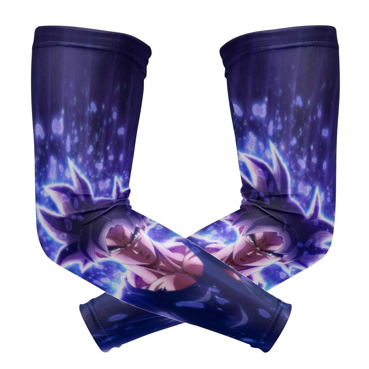 URGWSPORTS Dragon Ball Super Saiyan Migatte Gokui Ultra Instinct Key of Egoism Anime Sports Compression Arm Sleeve Unisex Moisture Wicking UV Protection