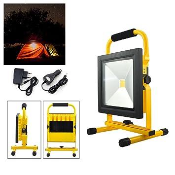 Hengda LED Foco Recargable proyector Lámpara Exterior Recargable ...