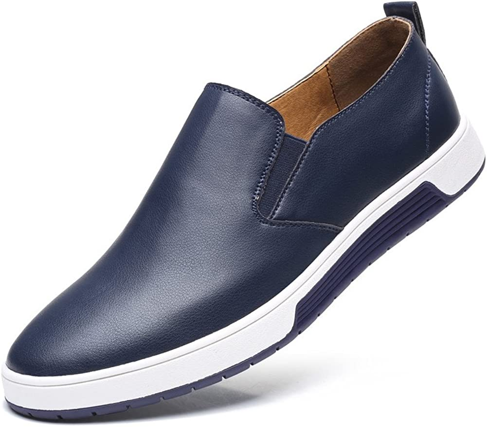 QCO Mens British Style Handmade Classic Leather Oxford Flats Shoes 8.5