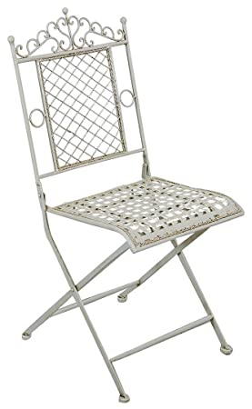 Conjunto de 2 sillas plegables en hierro forjado acabado ...
