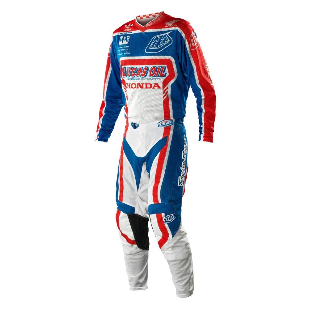 Amazon.com: Troy Lee Designs TLD GP Air Team Lucas Oil Gear Set Blue Red White Medium Jersey / 34 Pants: Automotive