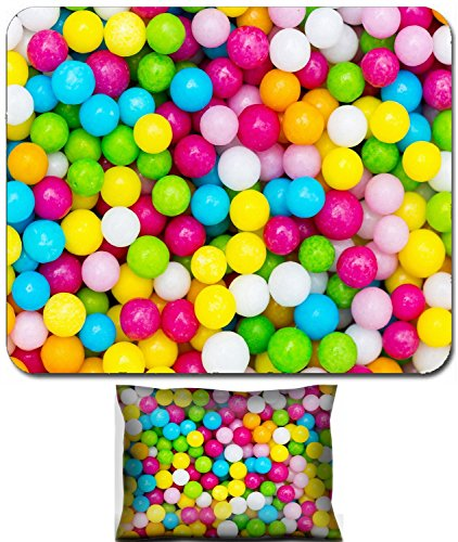 Luxlady Mouse Wrist Rest and Small Mousepad Set, 2pc Wrist Support design IMAGE: 23552150 Love pearl pearl sugar sweet sweets cake decoration multicolored colorful halloween birthday