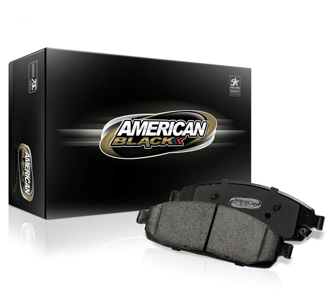 American Black ABD1061C Professional Ceramic Front Disc Brake Pad Set Compatible With BMW 125i 128i 325i 328i 330i 525i Z4 /& Others Perfect Fit QUIET and DUST FREE OE Premium Quality