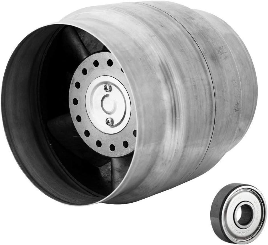 Kompatibel mit L/üftungsrohren mit Durchmesser 100mm Hergestellt im EU 120//100 bis 60/°C Kanalventilator Rohrventilator Kanall/üfter Axiale Entl/üftung mit einer Luftf/örderleistung von bis zu 150 m3//h