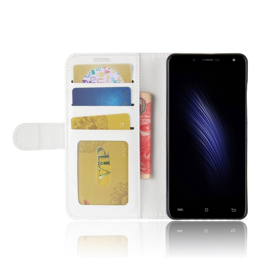 pinlu® Funda para Cubot Rainbow 2 Moda Negocios Flip Phone Case Magnética Billetera de Cuero PU con Ranura para Tarjeta y Soporte Función Blanco