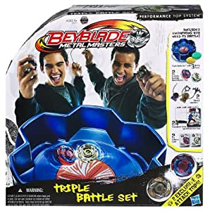 Hasbro Beyblade Super estadio triple - Set de tres bases de combate para peonzas Beyblade