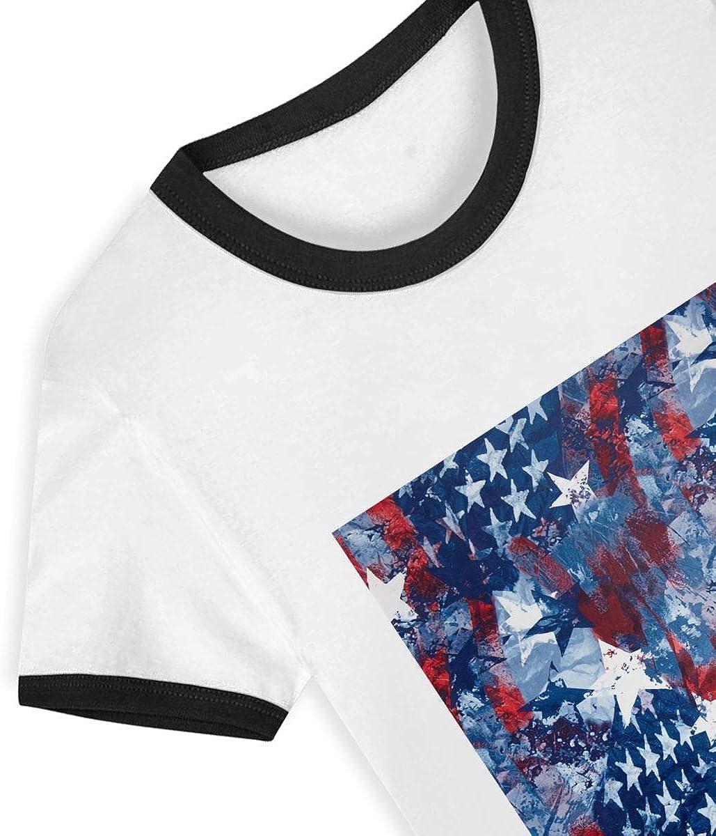 EVAGIBBONS USA American Flag Child Leisure Cute Fashion Life T Shirt