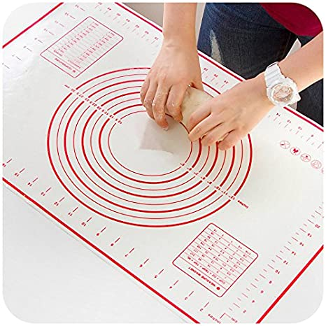 Pastry Mat XX-Large 32''x24'' - Non-Slip Silicone Fondant Sheet by SIXDEFLY, Sticks to Countertop, Perfect for Rolling Dough RMY6698
