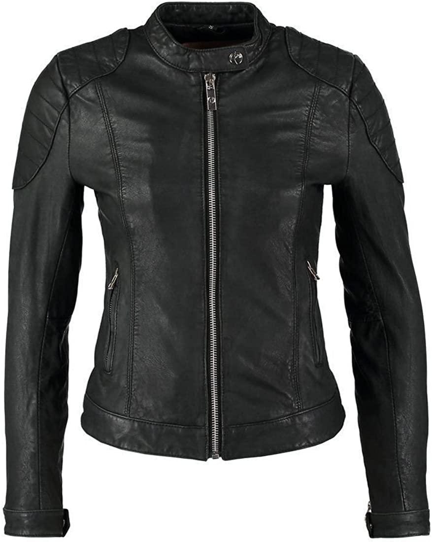 Koza Leathers Womens Lambskin Leather Biker Jacket KN140