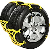 Carsun 2015 Anti Slip Chain/tire Chains of Car,SUV, Snow Tire Chains, Fully Enclosed Universal Emergency Pure Tendon Thickening Anti-skid Chains(set of 6),give Snow Shovel, Glove