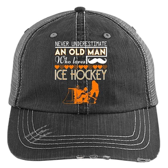 5512e9aa Who Loves Ice Hockey Hat, I Love Ice Hockey Trucker Cap (Trucker Cap ...